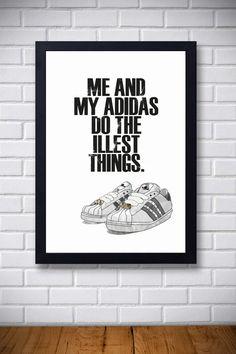 Hip Hop Quote 4 My Adidas http://folksy.com/items/5838201-Hip-Hop-Quote-4-My-Adidas