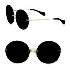 Miu Miu Retro Noir Round Acetate Sunglasses ($390) ❤ liked on Polyvore featuring accessories, eyewear, sunglasses, black, round sunnies, miu miu, rounded sunglasses, retro glasses and acetate glasses