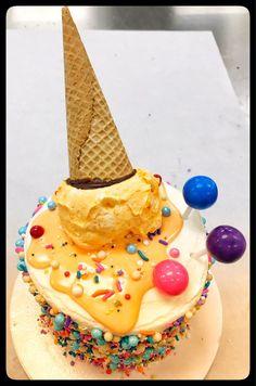 Ice Cream theme Birthday Cake! 🎉🍦 Ice Cream Theme, Custom Cakes, Cake Decorating, Birthdays, Birthday Cake, Party, Desserts, Food, Personalized Cakes