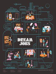 dream job illustration- lab partners