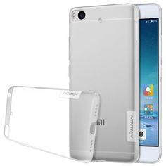 Nillkin Cover for Xiaomi Mi5S Case Transparent Clear Soft TPU Silicone + Dust Plug Cover for Xiaomi Mi 5S Case Protective Shield
