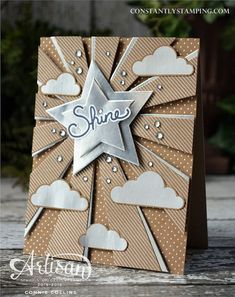 Designed by Stampin' Up! Artisan Design Team Member, Connie Collins using Shine On Specialty Designer Series Paper and the Sunburst Die.
