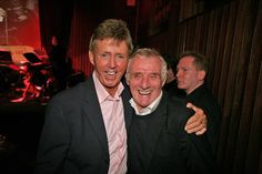 Dickie Rock and Eamon Dunphy at the launch of the singer's autobiography in Shades Of Green, Dublin, Product Launch, Celebrity, Singer, Rock, People, Image, Singers