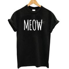 Excited to share the latest addition to my #etsy shop: MEOW T-Shirt http://etsy.me/2ivXNQ6 #clothing #women #tshirt #meowtshirt #blacktshirt #crewneck #shortsleeve #cottontshirt #fashion
