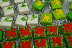 St. Davids Day cakes - decorated with Welsh symbols:  Leeks, Daffodils and Dragons