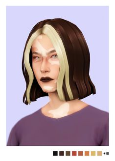 """sulsulhun: """" """"sulsulhun's erin hair + strands accessory """" hi everyone! this is going to be the last piece of cc that i post for a while since i'm taking a break from creating cc to just… chill and. Sims 4 Mm, My Sims, Alfred Enoch, The Sims 4 Cabelos, Pelo Sims, Hair Streaks, Sims Hair, Sims 4 Clothing, Sims 4 Cc Finds"""