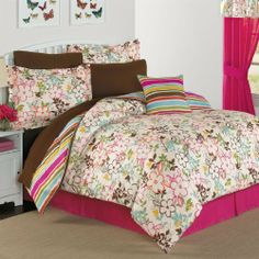 Brylanehome Abigail Reversible Comforter Set by BrylaneHome. $139.99. Look on the bright side with this reversible comforter set that goes from a beautiful floral print to a brilliant stripe. Set includes comforter, bedskirt, 2 standard shams (1 with twin). Polyester microfiber. Machine wash. Imported