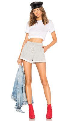 Shop for amazing Designer Loungewear for Women at REVOLVE CLOTHING. Find designer Hoodies, Sweatshirts, Sweatpants, Sweatshorts & more from top brands! Revolve Clothing, Short Outfits, Designing Women, Lounge Wear, Heather Grey, Mini Skirts, Sweatpants, Hoodies, Shorts