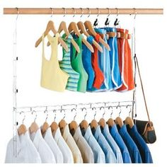 Closet Storage Doubler 2 Rods Adjustable Durable Hanger Home Space Saving Hanger in Home & Garden, Household Supplies & Cleaning, Home Organization Closet Rod, Closet Storage, Closet Organization, Organization Ideas, Master Closet, Organizing Tips, Cleaning Tips, Storage Ideas, Tiny Closet