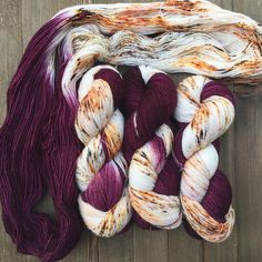 eign is back! It's all business on one end, and party on the other. #speckledyarn #specklesaresohotrightnow #yarn #handdyedyarn #sockyarn