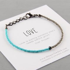 Love Bracelet Simple Bracelet Jewelry Gift by ReelLineBracelets