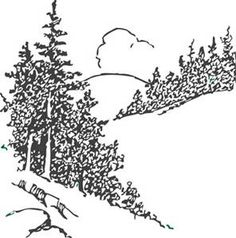 Pine Tree And Mountain Scene Clipart - Clipart Kid Christmas Tree Silhouette, Cute Christmas Tree, Pine Tree Art, Willow Tree Wedding, Tree Wallpaper Iphone, Tree Clipart, Conifer Trees, Celtic Tree Of Life, Tree Sculpture