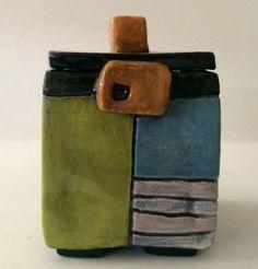 ceramic box #3-square by whimsicallinendesign on Etsy https://www.etsy.com/listing/231847093/ceramic-box-3-square