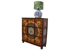 Massiv Holz orientalisch afghan Kommode Schrank cabinet cupboard vertikos -MGL1