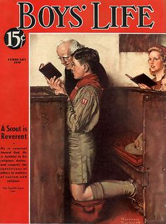 1940 ... 'A Scout is Reverent'- Norman Rockwell ~Via Jana VanBrakel