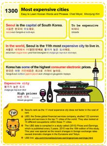 Easy to Learn Korean 1300 - Most expensive cities.