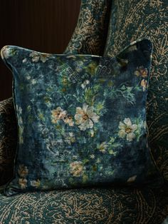 Rich blends of blue and green, flora inspired, antiqued and luxurious