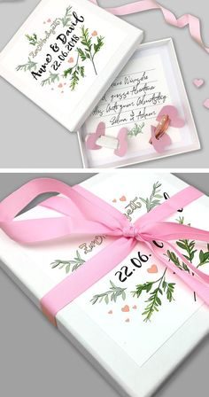 With this beautiful romantic box you will definitely meet the taste of the amorous bridal couple that you want to present with your presence and a gift of money. / Beautiful box for your gift of money Diy Wedding On A Budget, Diy Wedding Gifts, Wedding Gifts For Couples, Trendy Wedding, Wedding Favors, Money Gift Wedding, Wedding Present Ideas For Couple, Gift Money, Diy Presents