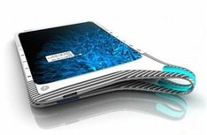 The device is called Infinite Book. Sooner or later, there had to be something similar, a kind of bridge between digital and analog worlds. This book is an infinite device consisting of two coupled flexible displays. This design allows you to browse through the e-book as well as the present, with each page displays tossing back. Very interesting and clever idea.