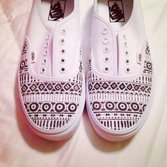 Aztec DIY sharpie pen shoes.