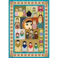 AHHH! I love when my pinterest boards intersect. A Matryoshka quilt pattern. I bet this is NOT for beginners though. Lol. I'll have to work up to it. So adorable.