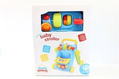 NEW My First Baby Stroller -  Young Ones Blue Walk Behind Toddlers Toy