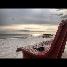 Dusk at the beach on Treasure Island, Florida