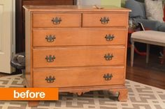 Before & After: This Dreary Dresser Gets A Big Change