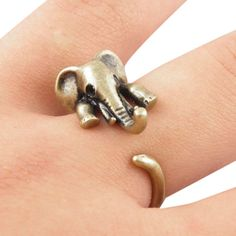 adjustable Animal Wrap Rings elephant Unique Trendy Retro Vintage Boho Chic Mid Finger Ring for Women and Girls jewelry open Vintage Elephant, Elephant Love, Elephant Rings, Elephant Jewelry, Giraffe, Girls Jewelry, Fine Jewelry, Ethnic Jewelry, Body Jewelry