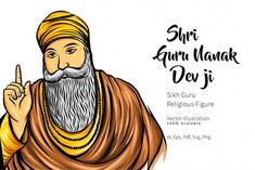 The way you are looking for guru nanak dev ji images and HD images, photo wallpaper or picture gallery. we have best collection of guru nanak dev ji photo frame and images. Guru Nanak Picture, Guru Nanak Photo, Guru Nanak Ji, Nanak Dev Ji, Illustrations, Graphic Illustration, Founder Of Sikhism, Guru Nanak Teachings, Guru Nanak Wallpaper