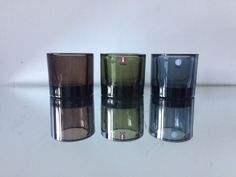 3 Kivi iittala candle holders 1988 in different colors Marimekko, Voss Bottle, Water Bottle, Different Colors, Candle Holders, Conditioner, Candles, Etsy, Design