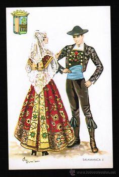 Folk Costume, Costumes, Spanish Costume, Regional, Painted Wardrobe, Spanish Dance, Folk Clothing, Spanish Fashion, Sewing Art