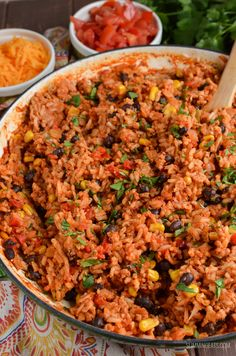 Slimming Eat Turkey Rice Burrito Bowls - gluten free, dairy free, vegetarian, Slimming World and Weight Watchers friendly