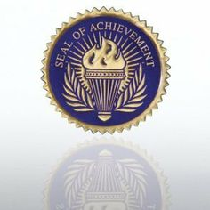 Certificate Seal - Seal of Achievement Torch - Blue/Gold by Baudville. $10.25. Formalize an award certificate with a Certificate Seal. Coordinate seals with your choice of Certificate Paper or the recognition occasion for a truly complete award. Each seal has a serrated-edge and embossed text and design. Certificate Seals come in pa