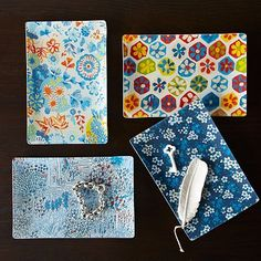 Sarah Campbell Decoupage Trays - Large #westelm Fun Gift for games at bridal showers/bachelorette parties