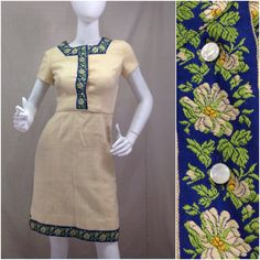 Very cool 1960s casual cotton shirt in olive green rasberry and bright blue paisley .