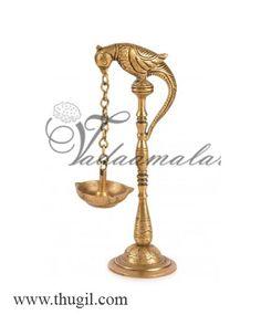 Parrot Diya made of brass