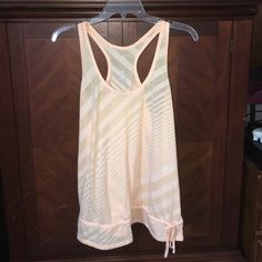 Old navy athletic tank Size large pale orange color gently used Tops Tank Tops