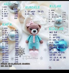 Best 11 190 Crochet Pattern - Girl Doll in an Easter Bunny Rabbit outfit - Amigurumi PDF file by Stelmakhova CP Crochet Baby Toys, Crochet Teddy, Crochet Patterns Amigurumi, Amigurumi Doll, Crochet Animals, Crochet Dolls, Baby Knitting, Free Crochet, Crochet Bear Patterns
