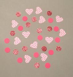 225 Pink and White Confetti Glitter Confetti by JBPartyCreations