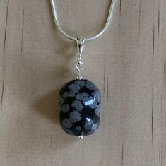 Snowflake Obsidian Sterling Silver Necklace