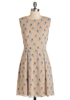 Mister Bluebird Dress. Slip into this bird-printed dress and youll be smiling before you can say zip-a-dee-doo-dah!  #modcloth