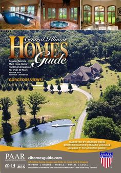 Who wouldn't want to live in this beautiful cover home?! View the Central Illinois Homes Guide to see many wonderful homes. Each home is interactive, click on one to be taken to more pictures and information! #homesforsale #realestate #IL