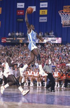 Michael Jordan in college at North Carolina. Not too often you see Jordan wearing Converse. Basketball Shorts Girls, Basketball Tricks, Basketball Pictures, Sports Basketball, Sports Pictures, College Basketball, Basketball Players, Syracuse Basketball, Basketball Jones