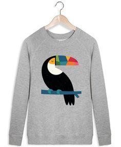 Rainbow Toucan als Frauen Sweatshirt von Andy Westface | JUNIQE