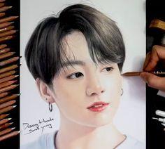 Jungkook Fanart, Foto Jungkook, Foto Bts, Funny Drawings, Bts Drawings, Bts Art, Bts Army Logo, Bts Tattoos, Black Pink Dance Practice