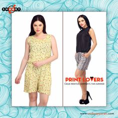Pretty printed #JumpsuitCollection that are best suited for picnics and get- together. Cut perfectly to fit your contours.