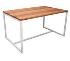 mesa comedor escritorio moderna minimalista acero madera