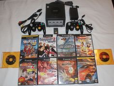 Nintendo GAMECUBE Black Console Lot 2 Matching Controllers 10 Games Dragonball Z