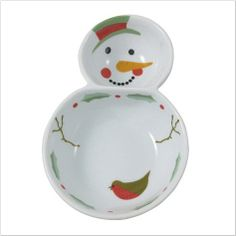 This dipping bowl is perfect for your Christmas party #christmas